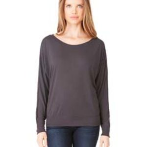 Ladies' Flowy Long-Sleeve Off Shoulder T-Shirt Thumbnail