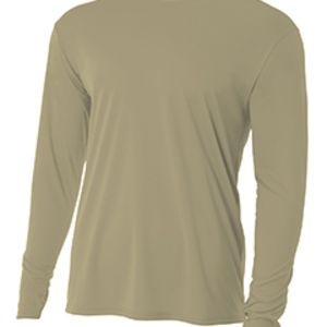N3165, A4 Men's Long-Sleeve Cooling Performance Crew Thumbnail